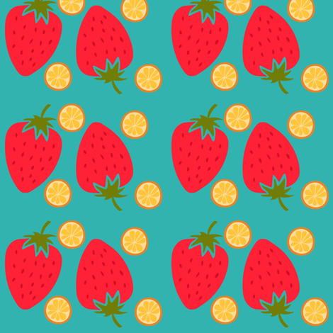 Gettin' Fruity fabric by thepinkhome on Spoonflower - custom fabric