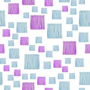 blue squares on white