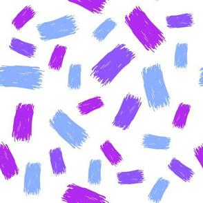blue grunge spots on white