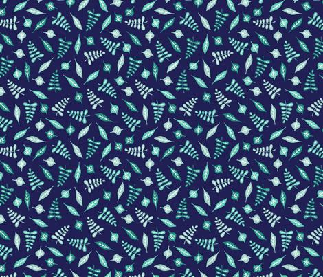 Winter Leaves fabric by lehoux_art on Spoonflower - custom fabric