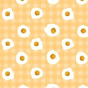 eggs breakfast food fabric yellow