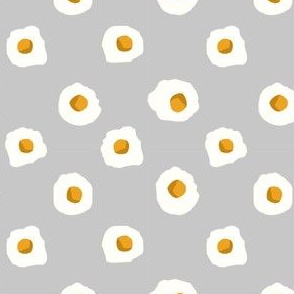 eggs breakfast food fabric grey