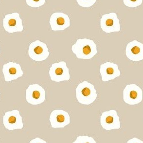 eggs breakfast food fabric tan