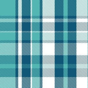 Dockside Plaid - Navy Aqua
