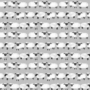 sheep (tiny scale) // kids grey gender neutral farm animals
