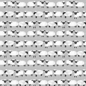 sheep (tiny scale) // kids grey gender neutral farm animals