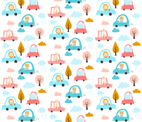 Road Trip fabric by nagorerodriguezdesign on Spoonflower - custom fabric