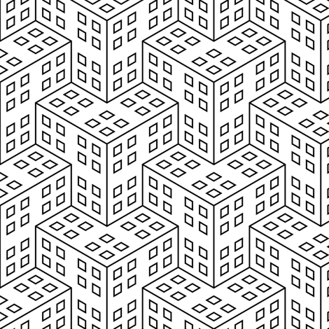 07655151 : continuous bauhaus chevrons fabric by sef on Spoonflower - custom fabric