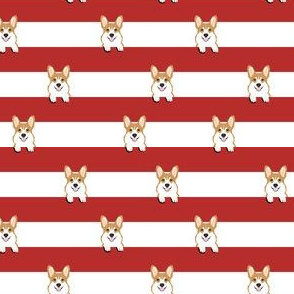 corgi stripes red (small scale)