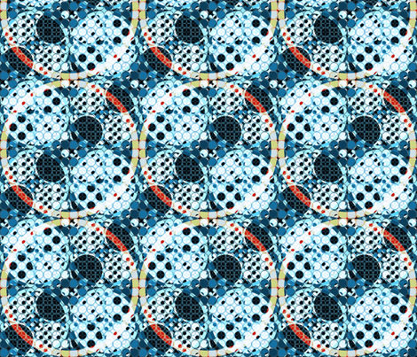 combo of circles fabric by variable on Spoonflower - custom fabric