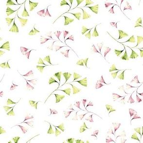 Light watercolor flowers