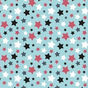 MellowStars - light blue and magenta