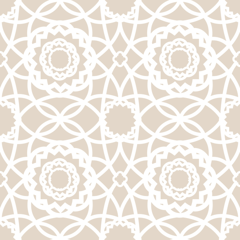 Palm Springs Macrame Lattice Lace fabric by elliottdesignfactory on Spoonflower - custom fabric