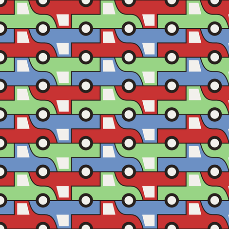 07655341 : pick-up truck 2 x3 fabric by sef on Spoonflower - custom fabric