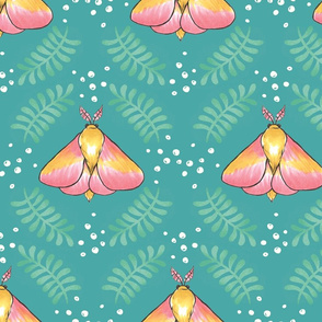 Maple Moths (Emerald Background)