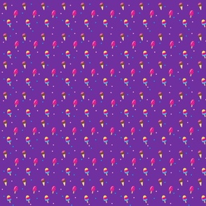 Ice cream with Purple Background