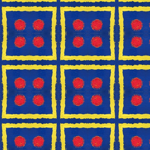 Primary Colors Dots & Squares