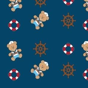 Nautical Bear, blue