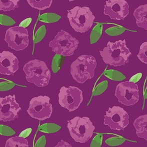 Watercolor Floral - Purple
