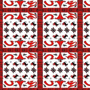 Native American Tribal Deco Squares