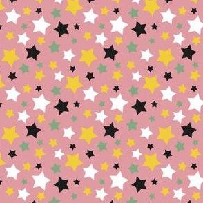 MellowStars - dark pink and yellow
