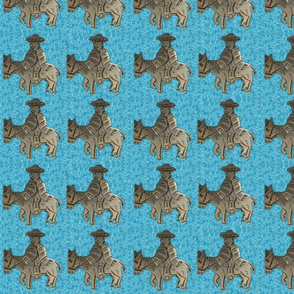 Mexican Riding Burro on Turquoise