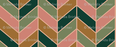 Jumbled Retro Chevron Pattern