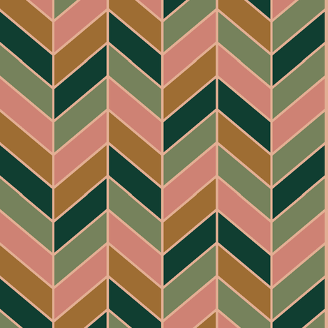 Jumbled Retro Chevron Pattern  fabric by mkaybrinker on Spoonflower - custom fabric
