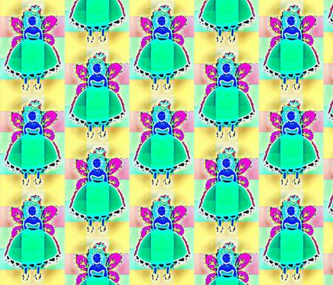 modern blue fairy fabric by farreystudio on Spoonflower - custom fabric