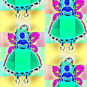 modern blue fairy