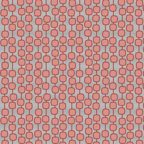 puffed square curtain in ruby - modern geometric collection