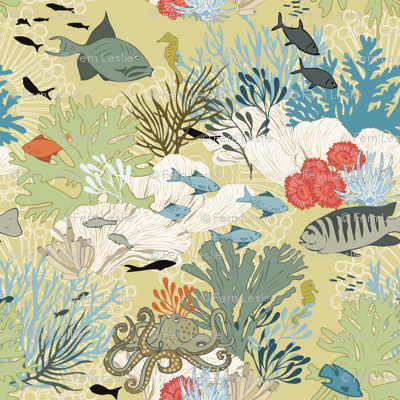Coral  Reef - Straw Yellow
