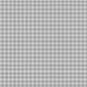 Black plaid simple thin small