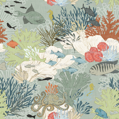 Coral Reef - Sage-Linen