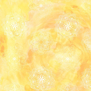 Watercolor Mandala Yellow