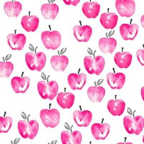 watercolor apples - pink