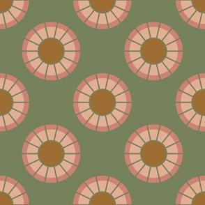Geometric Circles in Sage Green