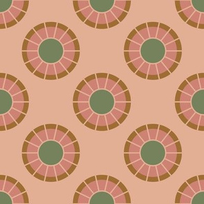 Geometric Circles in Light Pink