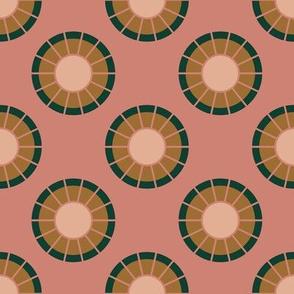 Geometric Circles in Pink
