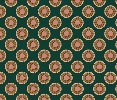 Geometric Circles in Evergreen fabric by mkaybrinker on Spoonflower - custom fabric