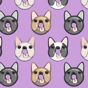 Frenchie - French Bulldog donuts (purple)