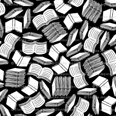 So Many Books (Black and White)