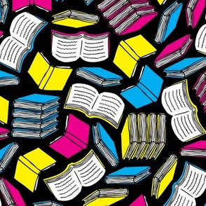 So Many Books... (Cyan, Magenta, Yellow, Black)
