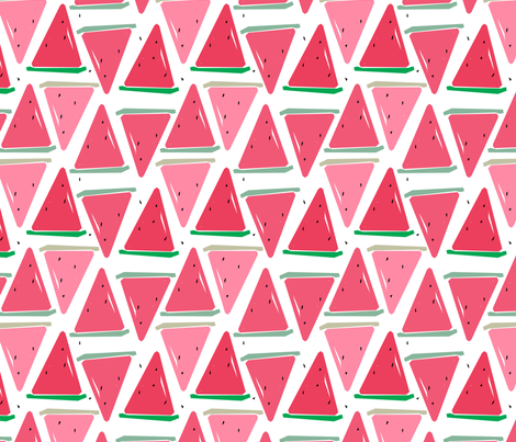 watermelon-pink fabric by gkumardesign on Spoonflower - custom fabric