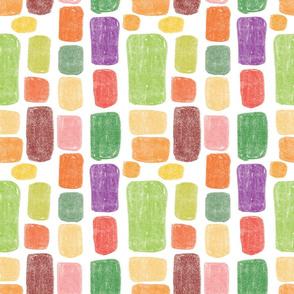 Multicolored stones