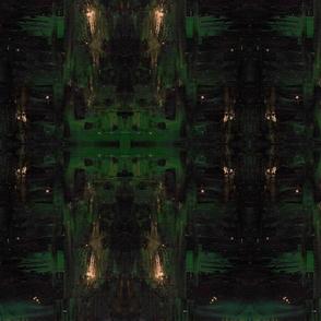 Abstract Oils- Dark Greens
