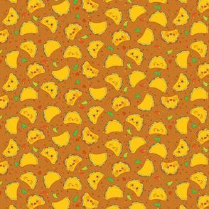 Taco Pattern Brown - Smaller Print