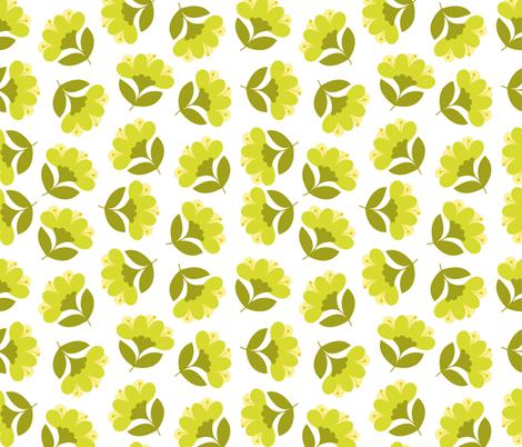 Spring flowers fabric by brazhnikova_ekaterina on Spoonflower - custom fabric