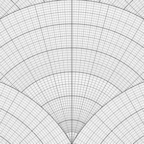 07657657 : polar graph scale : grey