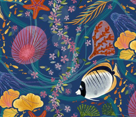 take a deep breath... fabric by stitchyrichie on Spoonflower - custom fabric